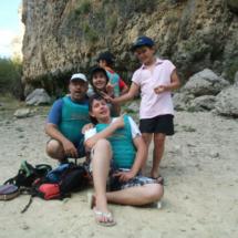 Foto de familia tras nuestro 'bautismo' en las Hoces del Duratón