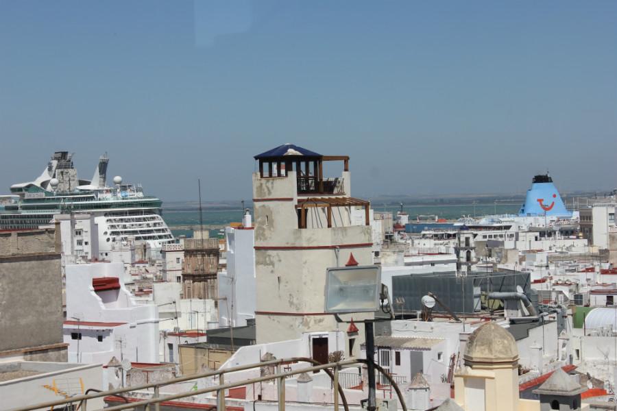 Vistas de Cádiz desde el mirador de Torre Tavira