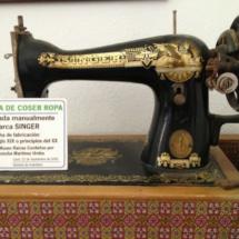 Máquina de coser antigua en el Museo de Conil