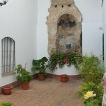 Algunos patios tienen un pozo o fuente de agua