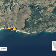 Vista satélite de Bolonia, costa de Cádiz