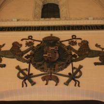 Escudo en la Lonja de Zaragoza