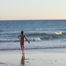 La playa de Zahara de los Atunes, con los niños