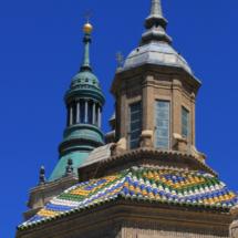 Detalle de las cúpulas de la basílica del Pilar