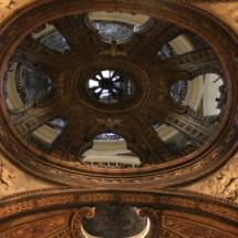 Detalle del techo de la basílica del Pilar
