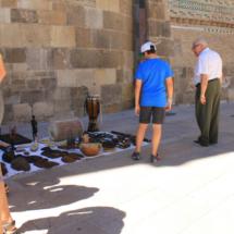 Puesto de venta en la Plaza del Pilar de Zaragoza