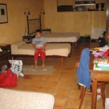 Una de las habitaciones del Mas Fuselles