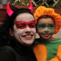 Maquillajes para Halloween: demonio y calabaza