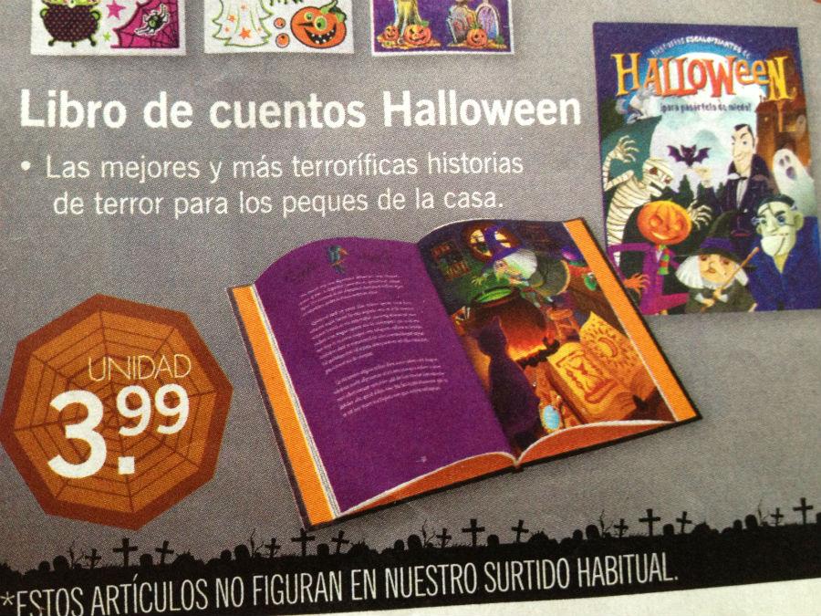 Libro de cuentos de Halloween, de Lidl, 3,99 euros