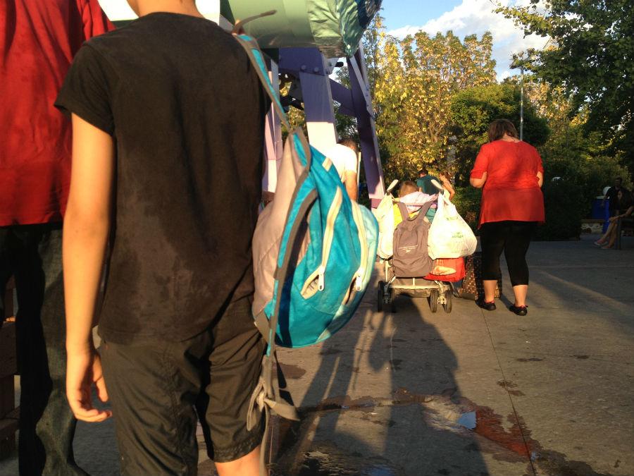 En el Parque de la Warner hay taquillas para poder depositar las mochilas