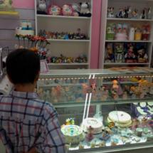 Mostrador de la tienda Naty's Cake Shop, donde hacen tartas decoradas