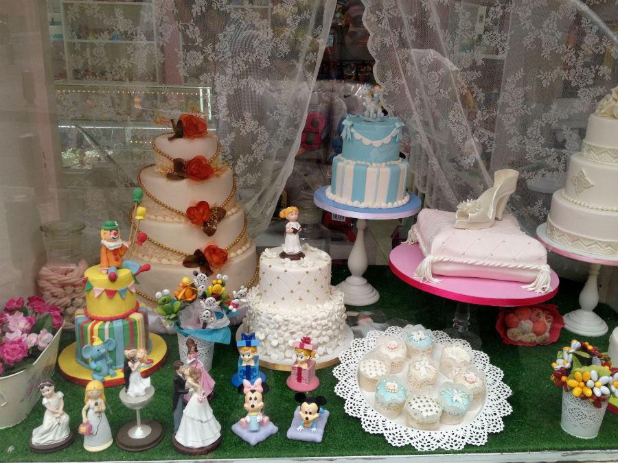 Surtido de tartas decoradas