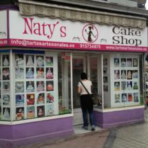 Escaparate de Naty's Cake Shop, en Madrid