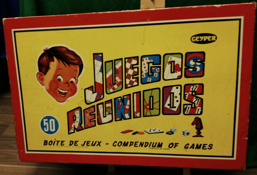 En los mercadillos de juguetes se pueden encontrar juguetes de todas las épocas, como esta caja de Juegos Reunidos Geyper