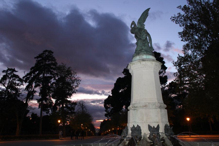 En El Retiro está la única estatua del mundo dedicada a Lucifer, a 666 metros sobre el nivel del mar