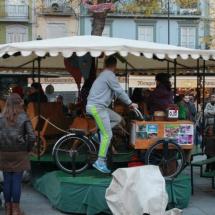 Tiovivo navideño ecológico de Granada