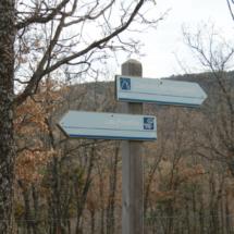 Indicadores en la ruta de la Cascada del Purgatorio