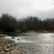 Vista del río Aguilón, en la zona de la Cascada del Purgatorio