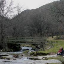 Los puentes sobre el arroyo ofrecen bonitas estampas en la Cascada del Purgatorio