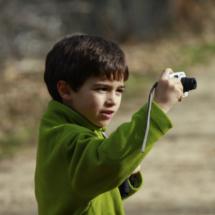 Los pequeños pueden hacer sus primeras fotos 'profesionales' en la Cascada del Purgatorio