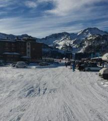 Parking de la estación de esquí Grand Valira, en Andorra