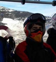 Subiendo a una de las pistas de esquí de Grand Valira