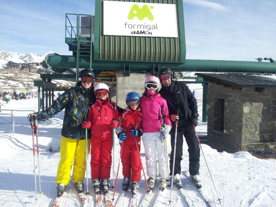 Esquiamos con los niños en Formigal