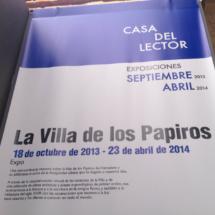 Cartel informativo en la exposición sobre el papiro en La Casa del Lector
