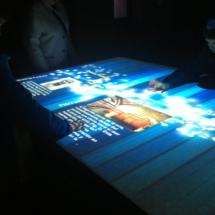 Elemento interactivo en la exposición sobre papiros en la Casa del lector