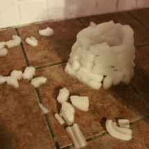 Construimos un igloo de verdad con hielo del congelador