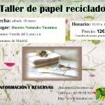 Taller para reciclar papel en Madrid