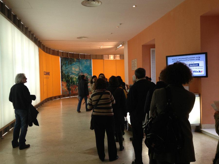 Acceso a la exposición de Cézanne en el museo Thyssen