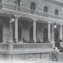 Imagen de las antiguas terrazas del balneario de Panticosa