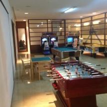Sala de juegos del hotel Continental; los niños encuentran aquí un espacio para su esparcimiento