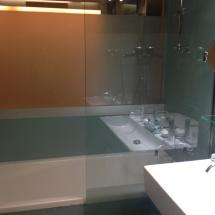 Detalle del baño del hotel Continental, en Panticosa