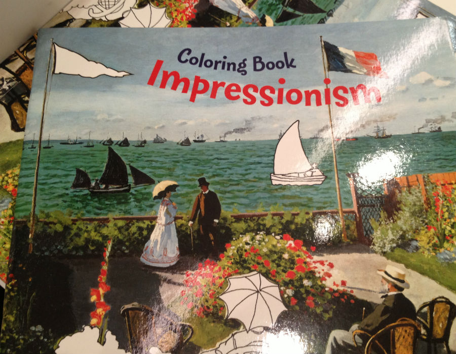 Libro para colorear de pintores impresionistas