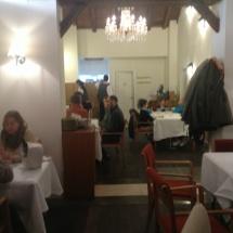 Ambiente del restaurante La Fontana, en Panticosa
