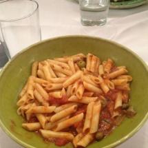 Ración de macarrones en el restaurante La Fontana