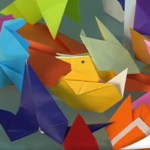 Cuatro vídeo para hacer cuatro figuras de origame con peques