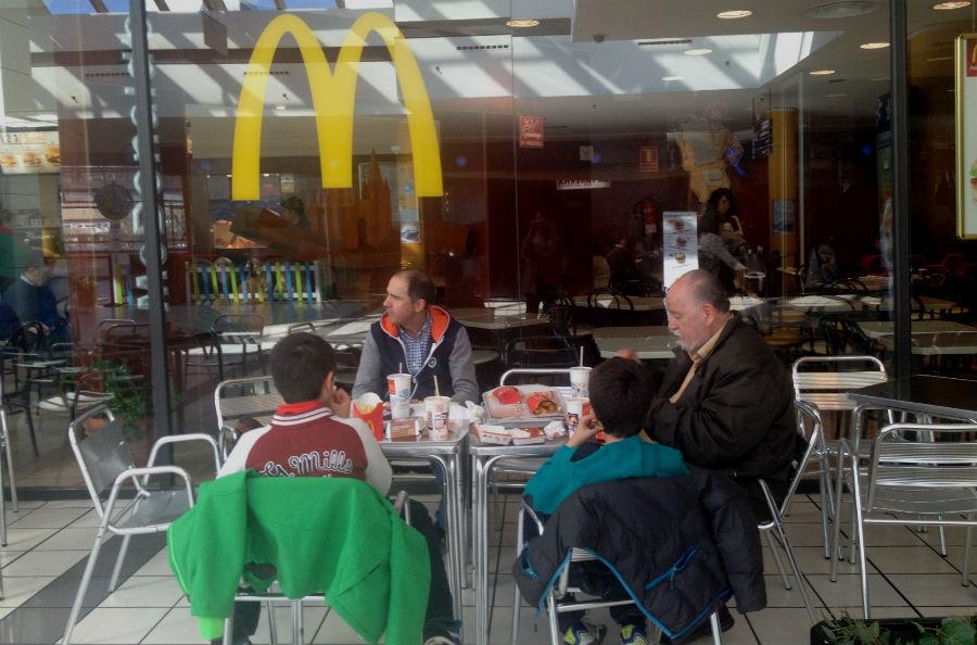 McDonald's del centro comercial El Mirador, en Burgos