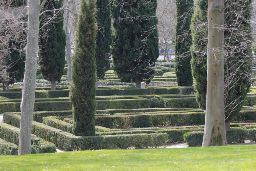 Jardín en el Parque del Capricho