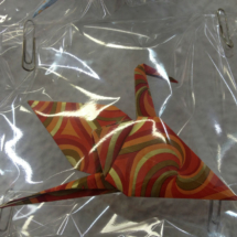 Cisne de origami de fantasía