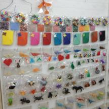 Muestrario de origami en la tienda Minimum