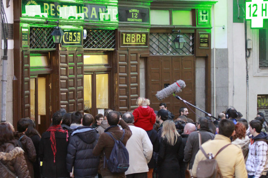 Fachada del restaurante Casa Labra, en Madrid