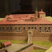 Maqueta del Palacio de la Aljafería, en Zaragoza