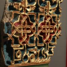 Detalle de un mosaico del Palacio de la Aljafería