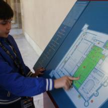 Plano del Palacio de la Aljafería, en Zaragoza