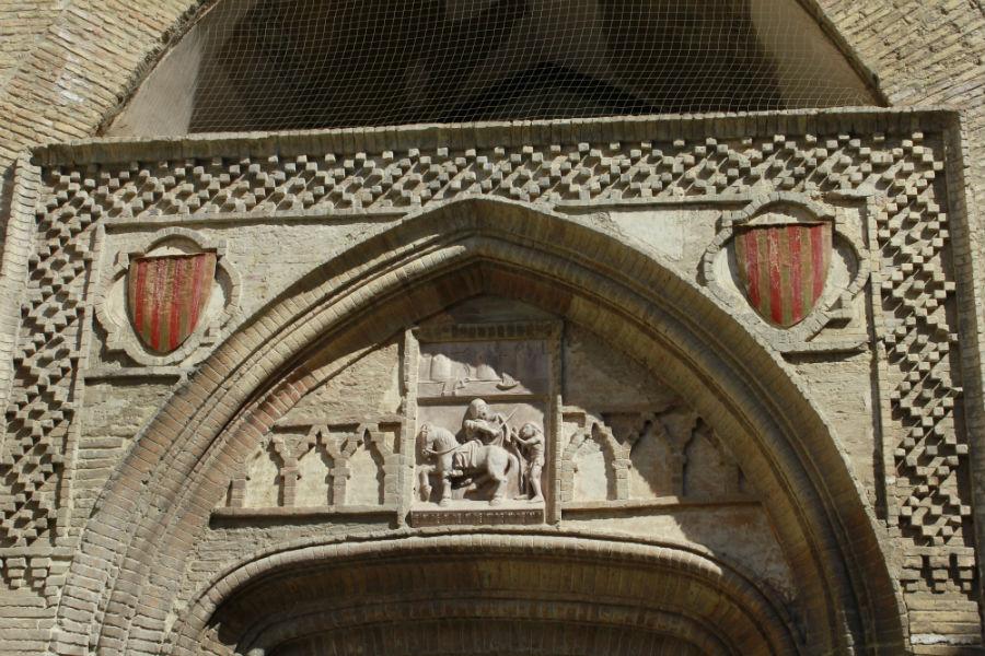 Detalle de un arco del Palacio de la Aljafería, en Zaragoza