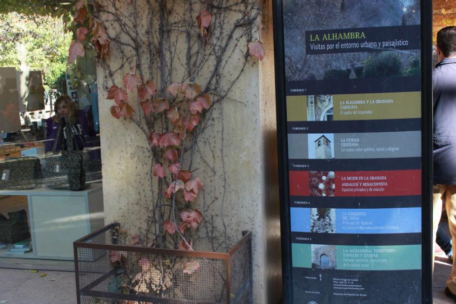 En la Alhambra se pueden realizar diferentes tipos de visita