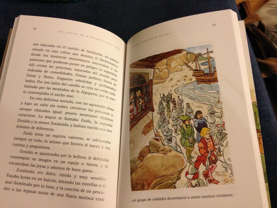 Interior del libro infantil 'Los Cuentos de la Alhambra para niños'